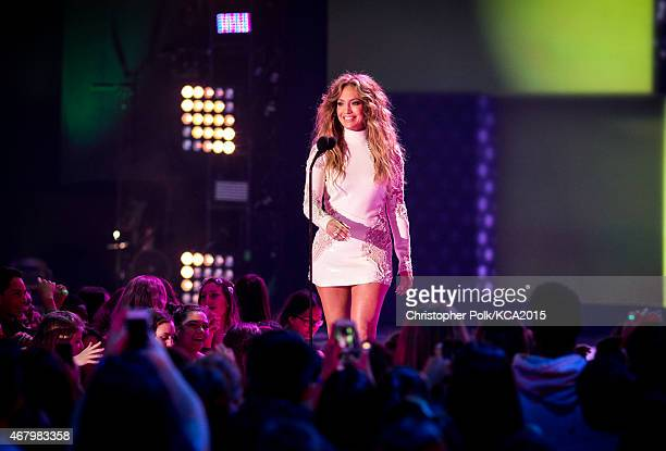 Singer Jennifer Lopez attends Nickelodeon's 28th Annual Kids' Choice Awards held at The Forum on March 28 2015 in Inglewood California