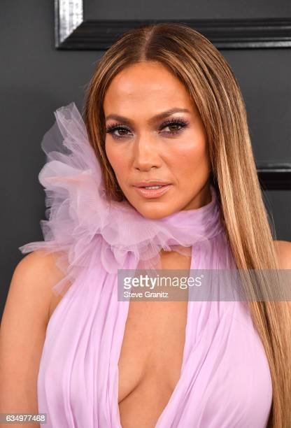 Singer Jennifer Lopez attends The 59th GRAMMY Awards at STAPLES Center on February 12, 2017 in Los Angeles, California.