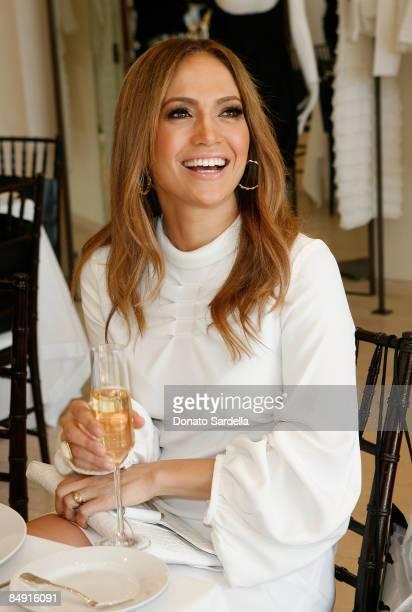 Singer Jennifer Lopez attends the Barneys New York and Jennifer Lopez Celebrate Andrea Lieberman event February 18 2009 in Beverly Hills California