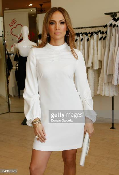 Singer Jennifer Lopez attends the Barneys New York and Jennifer Lopez Celebrate Andrea Lieberman event February 18 2009 in Beverly Hills California