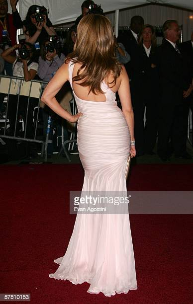 Singer Jennifer Lopez attends the Metropolitan Museum of Art Costume Institute Benefit Gala Anglomania at the Metropolitan Museum of Art May 1 2006...