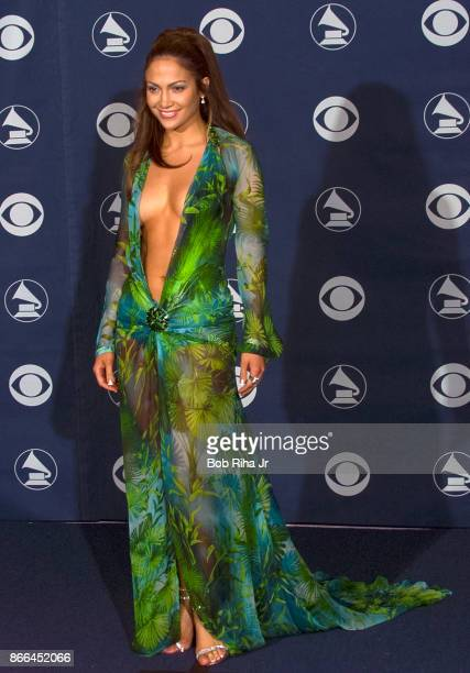 Singer Jennifer Lopez backstage at the 42nd Annual Grammy Awards February 23 2000 in Los Angeles California