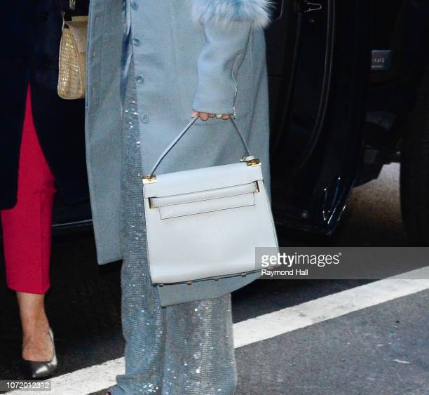 Singer Jennifer Lopez bag detail and her mom Guadalupe Rodriguez are seen outside Good Morning America on December 12 2018 in New York City
