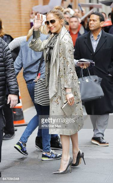 Singer Jennifer Lopez is seen on March 1 2017 in New York City