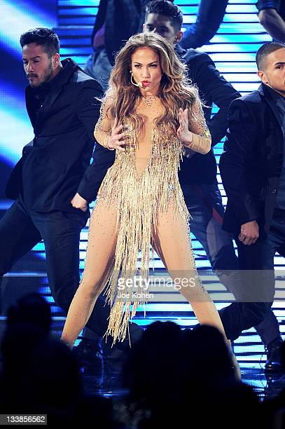 Singer Jennifer Lopez performs at the 2011 American Music Awards at Nokia Theatre L.A. Live on November 20, 2011 in Los Angeles, California.