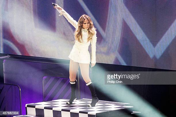 """Singer Jennifer Lopez performs at """"We Day Vancouver"""" at Rogers Arena on October 22, 2014 in Vancouver, Canada."""