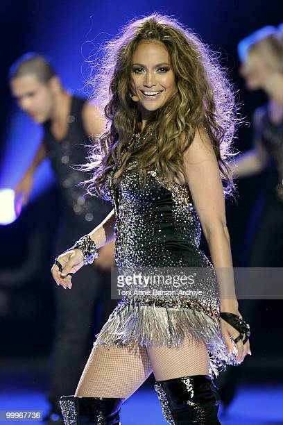 Singer Jennifer Lopez performs on stage during the World Music Awards 2010 at the Sporting Club on May 18 2010 in Monte Carlo Monaco