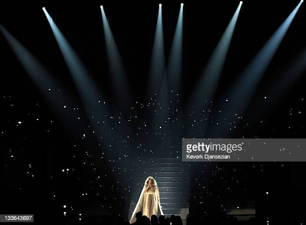 Singer Jennifer Lopez performs onstage at the 2011 American Music Awards held at Nokia Theatre L.A. LIVE on November 20, 2011 in Los Angeles,...