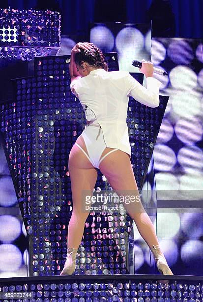 Singer Jennifer Lopez performs onstage at the 2015 iHeartRadio Music Festival at MGM Grand Garden Arena on September 19 2015 in Las Vegas Nevada