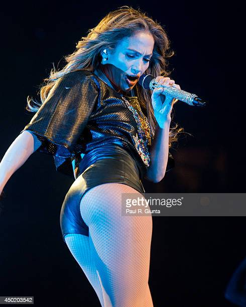 Singer Jennifer Lopez performs onstage at the Power 106 Powerhouse at Honda Center on May 17 2014 in Anaheim California