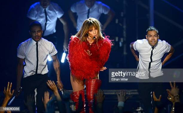 Singer Jennifer Lopez performs onstage during the 2013 Billboard Music Awards at the MGM Grand Garden Arena on May 19 2013 in Las Vegas Nevada