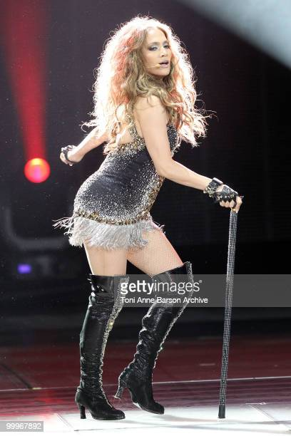 Singer Jennifer Lopez performs onstage during the World Music Awards 2010 at the Sporting Club on May 18 2010 in Monte Carlo Monaco