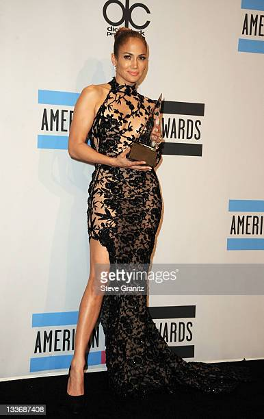 Singer Jennifer Lopez poses in the press room at the 2011 American Music Awards held at Nokia Theatre L.A. LIVE on November 20, 2011 in Los Angeles,...