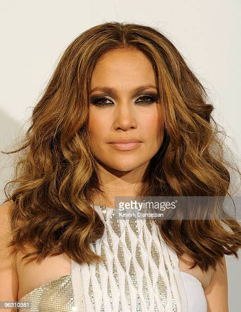 Singer Jennifer Lopez poses in the press room during the 52nd Annual GRAMMY Awards held at Staples Center on January 31, 2010 in Los Angeles,...