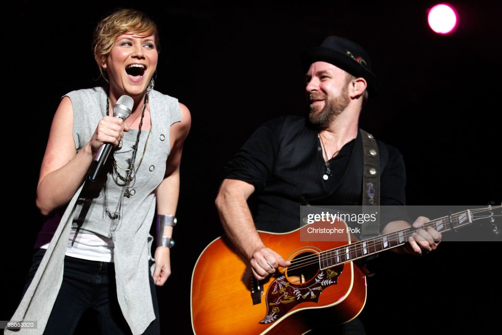 Singer Jennifer Nettles and musician Kristian Bush of Sugarland perform onstage during day 1 of Stagecoach: California's Country Music Festival 2010 held at The Empire Polo Club on April 24, 2010 in Indio, California.