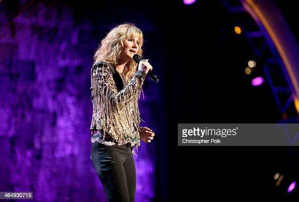 Singer Jennifer Nettles performs onstage at 2014 MusiCares Person Of The Year Honoring Carole King at Los Angeles Convention Center on January 24...