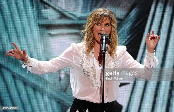 Singer Jennifer Nettles performs onstage during Fox's American Idol XIII Finale at Nokia Theatre LA Live on May 21 2014 in Los Angeles California