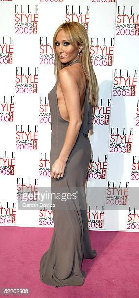 Singer Jenny Frost arrives for the Elle Style Awards 2005 at Spitalfields Market on February 15 2005 in London England The fashion magazine's annual...