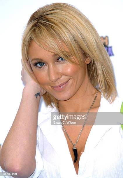 Singer Jenny Frost from 'Atomic Kitten' attends the Miley Cyrus concert at Koko Camden Town on March 28 2007 in London England