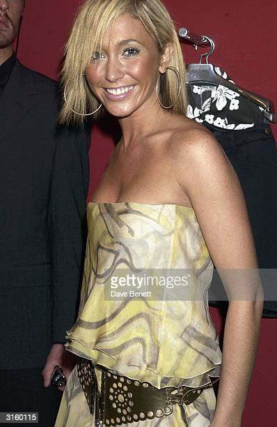 Singer Jenny Frost from Atomic Kitten attends the Miu Miu party at Bond Street on March 20 2003 in London