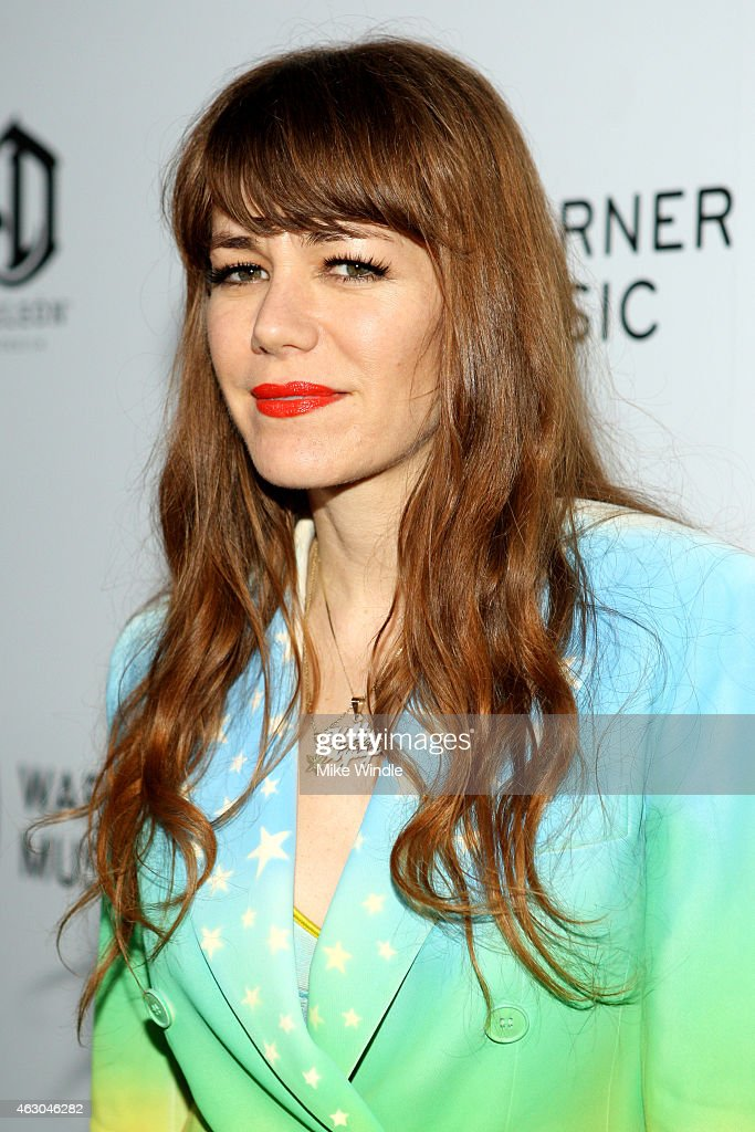 Singer Jenny Lewis attends the Warner Music Group annual Grammy celebration at Chateau Marmont on February 8, 2015 in Los Angeles, California.