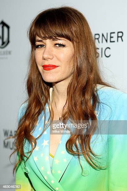 Singer Jenny Lewis attends the Warner Music Group annual Grammy celebration at Chateau Marmont on February 8 2015 in Los Angeles California