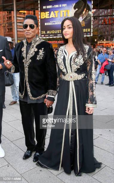 US singer Jermaine Jackson and Maday Velazquez during the musical premiere of 'BEAT IT Die Show ueber den King of Pop' at Stage Theater am Potsdamer...