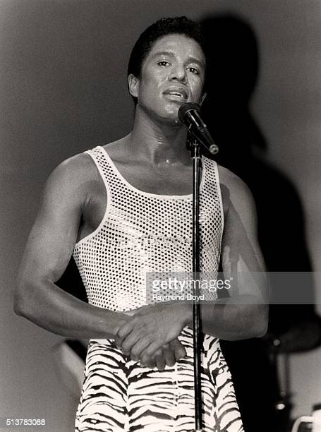 Singer Jermaine Jackson performs at the Holiday Star Theatre in Merrillville Indiana in 1986