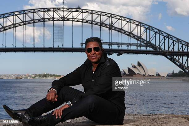 Singer Jermaine Jackson poses at Sydney Harbour on February 15 2010 in Sydney Australia Jackson is in Sydney to promote his new reality TV show 'The...