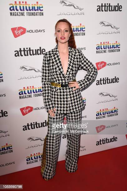 Singer Jess Glynne attends The Virgin Holidays Attitude Awards at The Roundhouse on October 11 2018 in London England