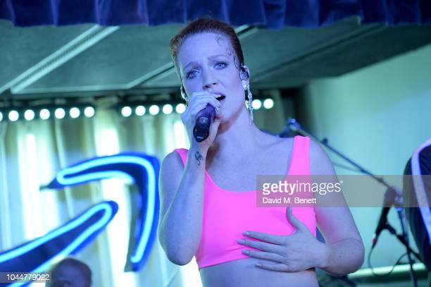 Singer Jess Glynne performs at the Amazon Prime Video Europe Autumn Party at 100 Wardour Street on October 2 2018 in London England