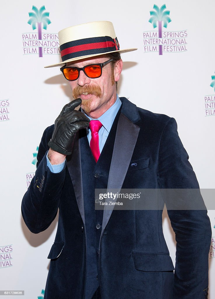 Singer Jesse Hughes attends a screening of 'Eagles Of Death Metal: Nos Amis' at the 28th Annual Palm Springs International Film Festival at Annenberg Theater on January 14, 2017 in Palm Springs, California.