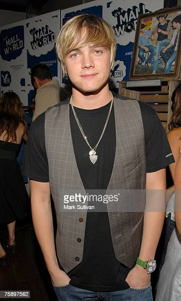 """Singer Jesse McCarthy in the American Eagle Outfitters Launch of the Original Series """"It's A Mall World"""" Directed By Milo Ventimiglia VIP lounge at..."""