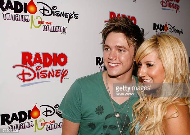 Singer Jesse McCartney and actress Ashley Tisdale arrive at the Radio Disney Totally 10 Birthday Concert held at the Arrowhead Pond of Anaheim on...