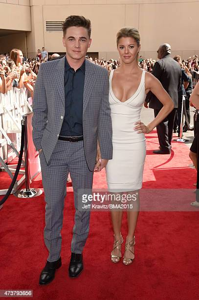 Singer Jesse McCartney and actress Katie Peterson attend the 2015 Billboard Music Awards at MGM Grand Garden Arena on May 17 2015 in Las Vegas Nevada
