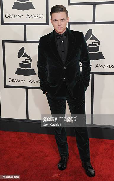 Singer Jesse McCartney arrives at the 57th GRAMMY Awards at Staples Center on February 8, 2015 in Los Angeles, California.