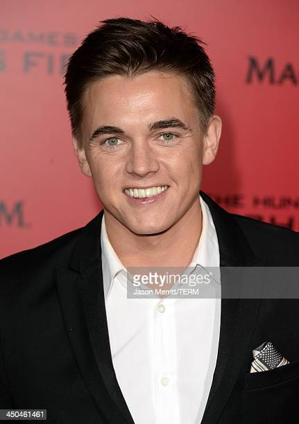 """Singer Jesse McCartney arrives at the premiere of Lionsgate's """"The Hunger Games: Catching Fire"""" at Nokia Theatre L.A. Live on November 18, 2013 in..."""