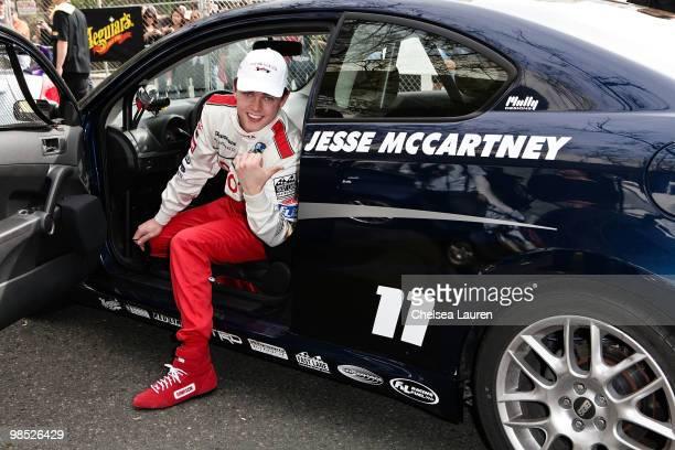 Singer Jesse McCartney attends the Toyota Grand Prix Pro / Celebrity Race Day on April 17 2010 in Long Beach California
