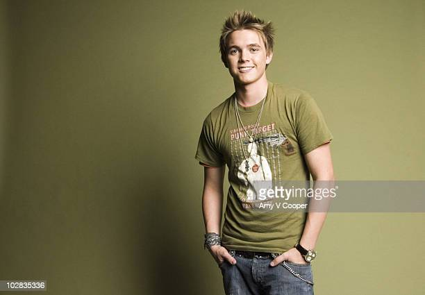 Singer Jesse McCartney poses at a portrait session for MTVcom on August 4 2006 in New York City