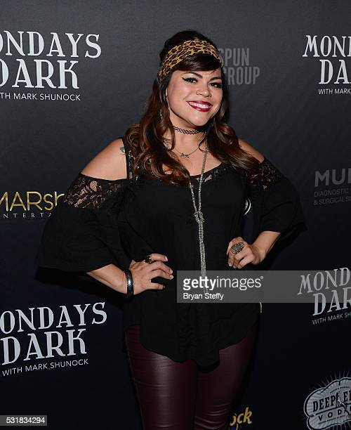 Singer Jessenia Paz attends Mondays Dark benefiting the Through the Eyes of a Child Foundation at Vinyl inside The Hard Rock Hotel Casino on May 16...