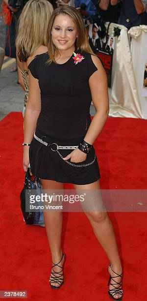 Singer Jessica Garlick arrives at the UK premiere of 'American Wedding' the third installment in the 'American Pie' films August 7 2003 in London