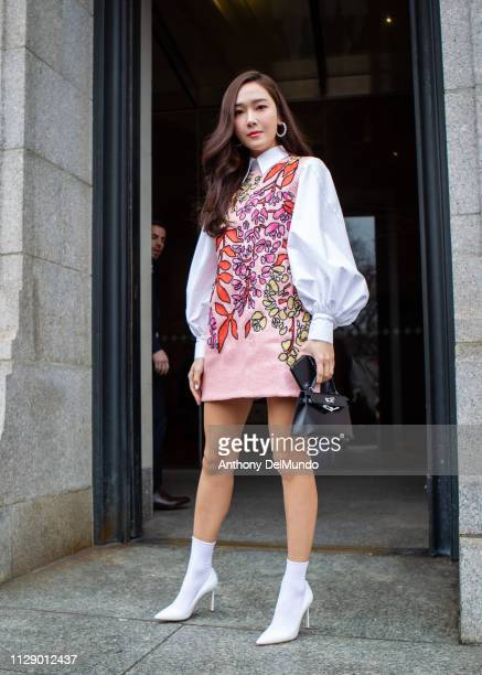 Singer Jessica Jung attends Carolina Herrera fall 2019 runway show during New York Fashion Week held at New York Historical Society 170 Central Park...