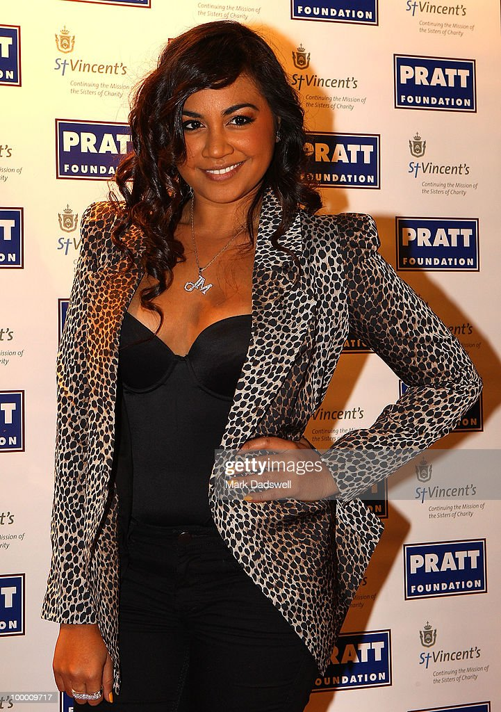 Singer Jessica Mauboy arrives at the Pratt Foundation's 'An Intimate Evening with Sir Bob Geldof' in support of St Vincent's Cancer Center on May 20, 2010 in Melbourne, Australia.