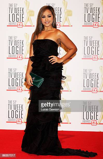 Singer Jessica Mauboy arrives for the 51st TV Week Logie Awards at the Crown Towers Hotel and Casino on May 3 2009 in Melbourne Australia