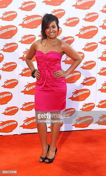 Singer Jessica Mauboy arrives for the Australian Nickelodeon Kids' Choice Awards 2009 at Hisense Arena on November 13 2009 in Melbourne Australia