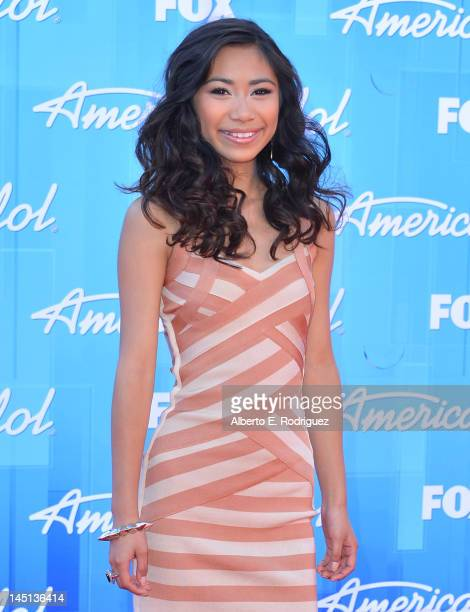 """Singer Jessica Sanchez arrives at Fox's """"American Idol 2012"""" Finale Results Show at Nokia Theatre L.A. Live on May 23, 2012 in Los Angeles,..."""