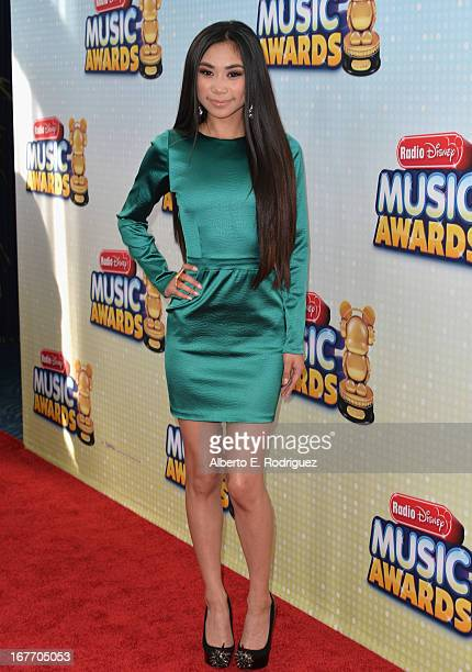 Singer Jessica Sanchez arrives to the 2013 Radio Disney Music Awards at Nokia Theatre L.A. Live on April 27, 2013 in Los Angeles, California.
