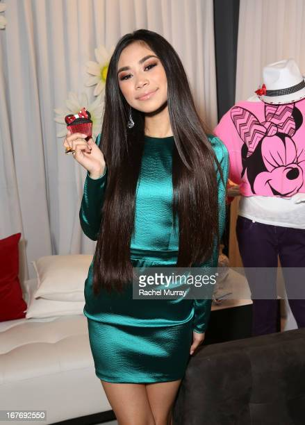 Singer Jessica Sanchez attends the Minnie Gifting Lounge during the 2013 Radio Disney Awards at Nokia Theatre LA Live on April 27 2013 in Los Angeles...