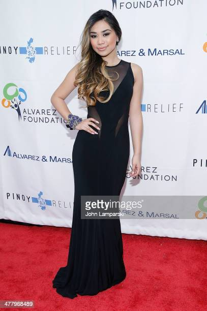 Singer Jessica Sanchez attends the Pinoy Relief Benefit concert at Madison Square Garden on March 11, 2014 in New York City.