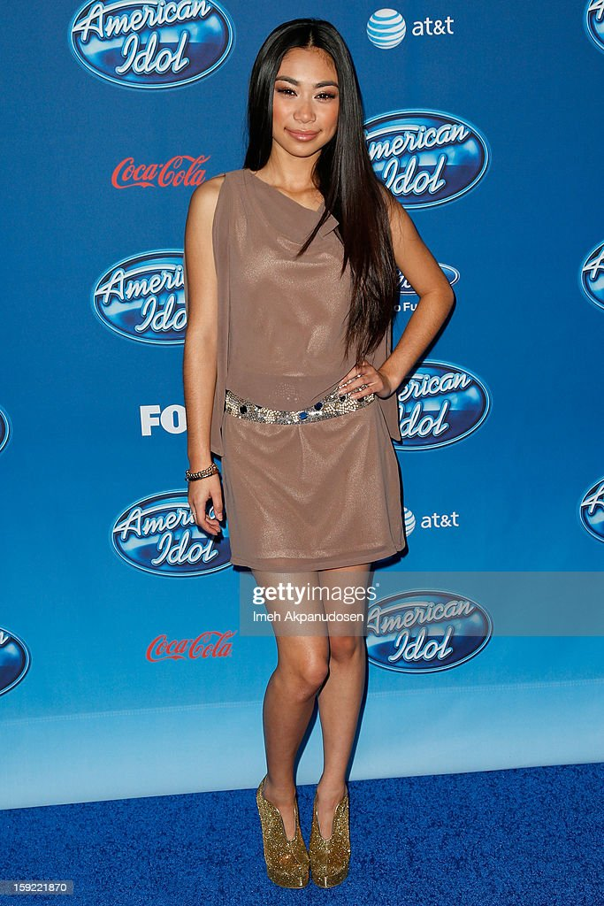 Singer Jessica Sanchez attends the season premiere screening of Fox's 'American Idol' at Royce Hall, UCLA on January 9, 2013 in Westwood, California.